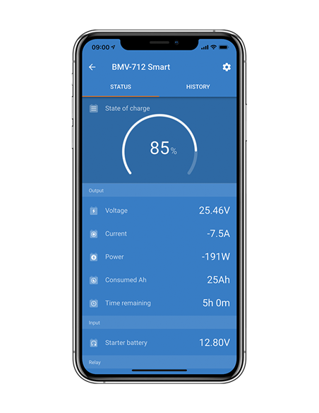 BMV-712 Smart on Victron Connect mobile app