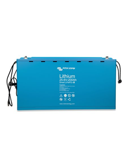 LiFePO4 Battery 25.6V 200Ah Smart (front-angle)