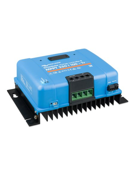 SmartSolar charge controller MPPT 250/100-Tr (left)